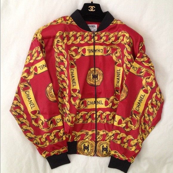 CHANEL - Vintage Red Chanel Bomber Jacket from Jeremy's closet on ...