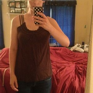 Like new brown Anthropologie tank