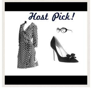 🎉HOST PICK🎉Kate Hill black polka dot dress