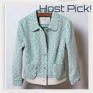 3X HOST PICK Anthro lattice meadow jacket 