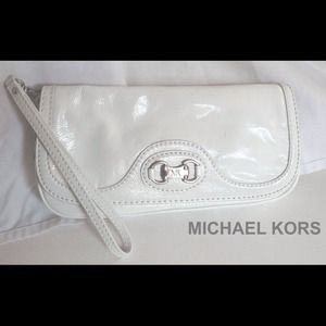 Authentic Michael Kors White Clutch