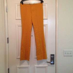 Zara golden tones orange/yellow pants