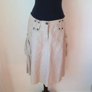 Patrizia Pepe Dresses & Skirts - Patrizia Pepe beige silk/ linen skirt very cool