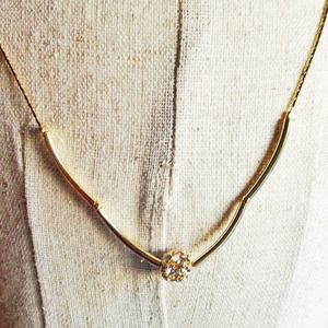 Jewelry - Crystal ball pendant necklace + bracelet