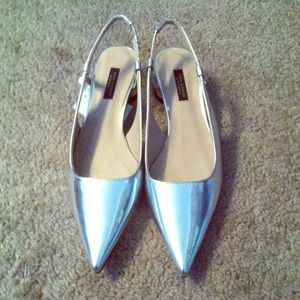 Host PickZara Silver sling back shoes size 6.6