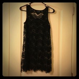 ❌✔ Traded! Black Lace Dress/ Beach Cover-up