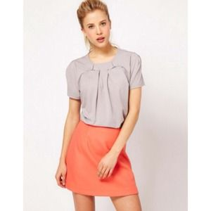 ASOS Tops - Asos grey cotton shirt