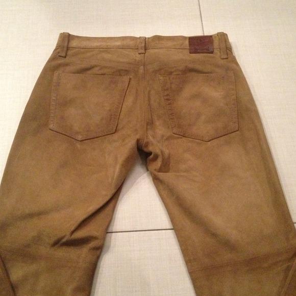 70% off Ralph Lauren Pants - Ralph Lauren Cowboy Boot suede pants ...