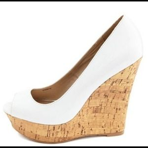 Charlotte Russe Wedges in White