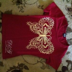 Dolce&Gabbana red butterfly tshirt