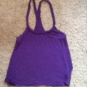 anchor blue  Tops - Purple racer back tank with graded straps