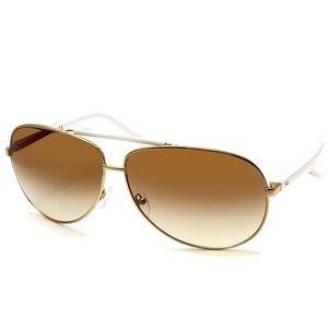 AQS Accessories - AQS Aquaswiss gold white large aviator sunglasses