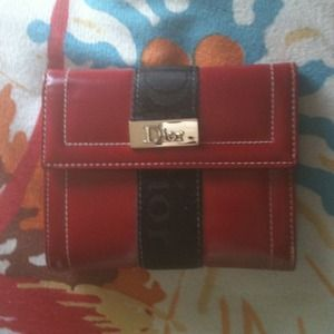 Dior red wallet