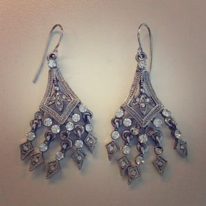 none Jewelry - Rhinestone Statement Earrings