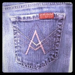 "7 for all Mankind jeans. Size 26 ""A"" pocket"