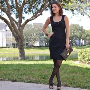 Express Dresses & Skirts - Jewel bibbed little black dress