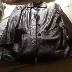 Authentic Gucci leather coat