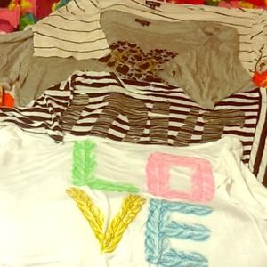 Rue 21 Tops - ⛄️❄️CROP SHIRTS baggy hearts stripes zebra