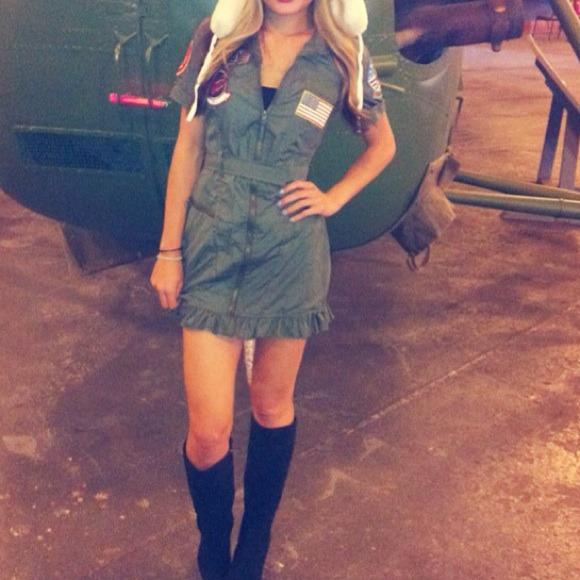 New Cute halloween top gun navy girl costume S & Dresses | New Cute Halloween Top Gun Navy Girl Costume S | Poshmark