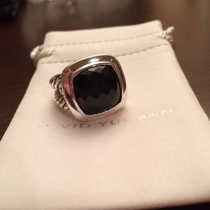 DAVID YURMAN Black Onyx Albion Ring 11mm AUTHENTIC