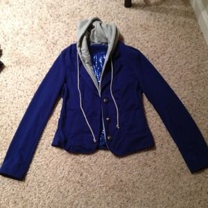 Reduced!! Forever 21 Blazer w Detachable Hood