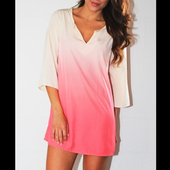 75% off Honey Punch Dresses &amp Skirts - ✨Into the Pink Ombre Tunic ...