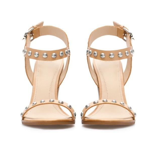 50% off Zara Shoes - 💥SALE💥 zara chunky heel studded sandals