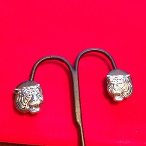 Tiger Clip Earrings silver / gold tone