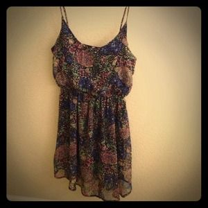 Super cute floral print tunic/dress 