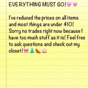 Reduced items☺