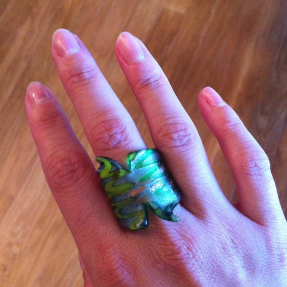 Jewelry - Glass painted ring