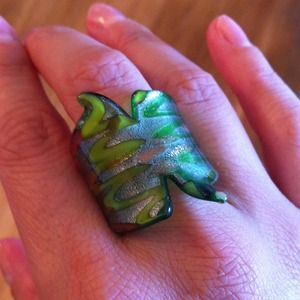 Glass painted ring