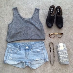 Vintage sliver/grey tank top