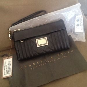 Brand New!!! ON SALE! Charles & Keith Black Purse