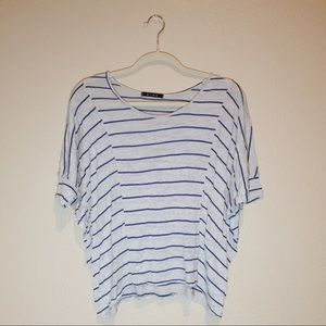 Butterfly Sleeve Striped Top