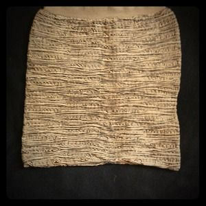 High waisted black&white one size skirt