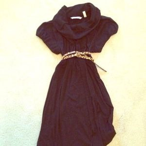Dresses & Skirts - Cowl neck black dress...belt not included
