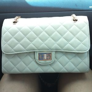 Beige flap bag
