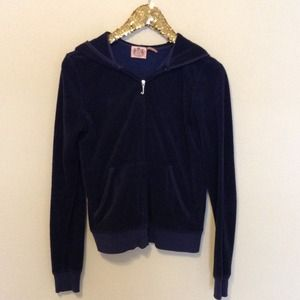 Juicy Couture Tops - Navy blue Juicy Couture terry cloth hoodie