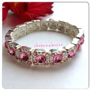Jewelry - Pink and Silver Crystal Bracelet