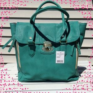 Steve Madden Bags - New Steve Madden Turquoise Leather Satchel