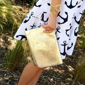Target Clutches & Wallets - ✨HOST PICK!!✨Gold faux snake skin envelope clutch