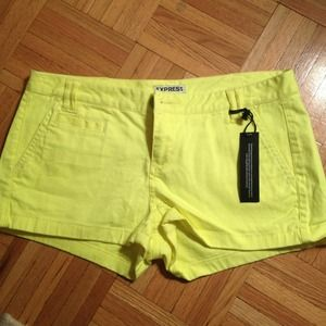 Express Other - Neon Yellow Express Shorts