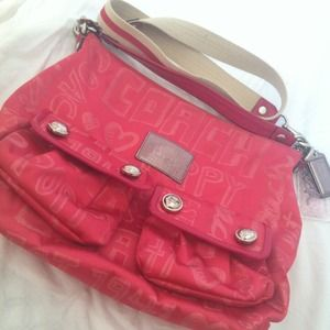 Authentic pink Coach Poppy hand/crossbody bag!
