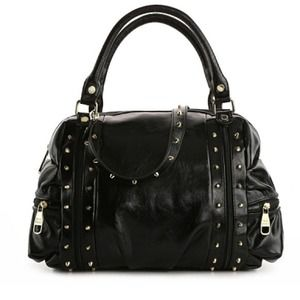 CLEARANCE Steve Madden Black Studded Satchel