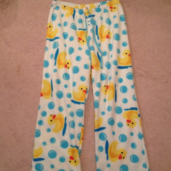 Sweet Pants Sold Fuzzy Rubber Ducky Pajama Poshmark
