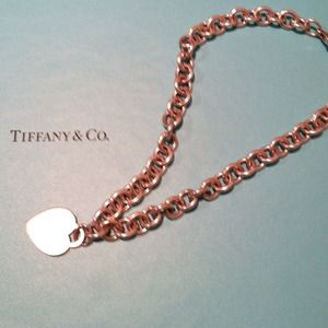 tiffany & co heart tag necklace
