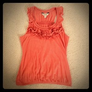 Anthropologie Burnt Orange Tank