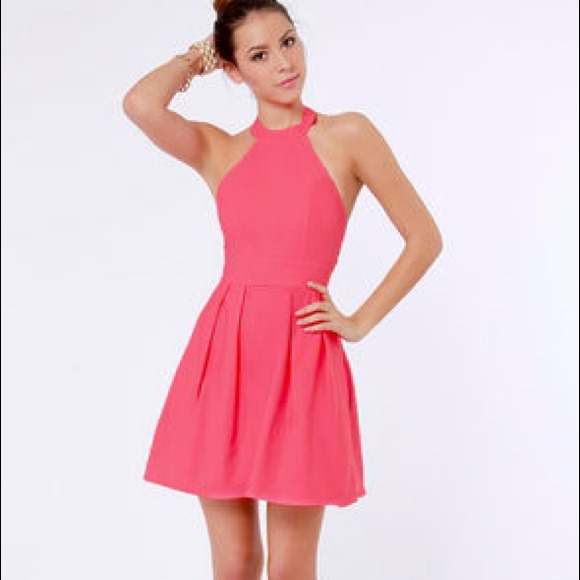LuLu's - Floating on Flare Pink Halter Dress from Carli's closet ...