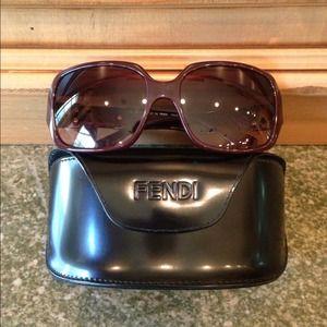 NEW Fendi Sunglasses FS 445 Brown Purple Bag Strap